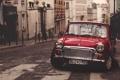 Картинка дорога, машина, авто, красный, улица, автомобиль