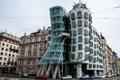 Картинка улица, Прага, Чехия, танцующий дом, набережная Влтавы