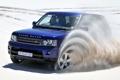 Картинка песок, синий, фон, Спорт, джип, внедорожник, Land Rover