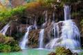 Картинка деревья, горы, скалы, водопад, поток, Таиланд, Thailand