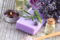 Картинка soap, lavender, spa, salt, oil, zen