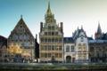Картинка фото, дома, Бельгия, Gent, окна город