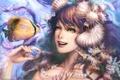 Картинка девушка, русалка, рыбка, Wan Hsienwei