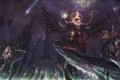 Картинка обрыв, скалы, крылья, руки, арт, демоны, cheng