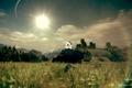 Картинка солнце, Германия, арт, танк, танки, WoT, World of Tanks