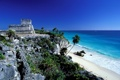 Картинка Mexico, in Quintana Roo, Mayan archaeological site of El Castillo, Tulum
