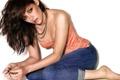 Картинка белый, фон, джинсы, майка, актриса, Kristen Stewart, Кристен Стюарт