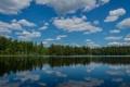 Картинка Möljeryd, лес, Швеция, облака, Sweden, отражение, озеро