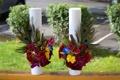 Картинка эустома, каллы, розы, орхидеи, букеты, фото, два цветы