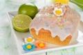Картинка праздник, еда, тарелка, Пасха, лайм, цитрус, фрукты
