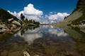 Картинка вода, горы, природа, озеро, люди, пейзажи