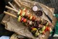 Картинка мясо, перец, овощи, помидоры, соль, кабачки, шашлыки