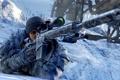 Картинка зима, снег, мужчина, винтовка, Sniper: Ghost Warrior 2