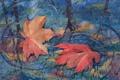 Картинка осень, листья, рисунок, арт