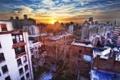 Картинка закат, нью-йорк, sunset, new york, nyc, West Village