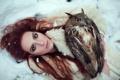 Картинка девушка, сова, рыжая, фотограф Vita Vladimirovna, Natalia Yankelevich