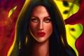 Картинка взгляд, девушка, лицо, арт