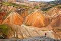 Картинка оранжевый, камни, скалы, вершины, Исландия, эрозия