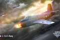 Картинка MMO, FJ-1-Fury, WoWp, World of Warplanes, авиа, Мир самолётов, Wargaming.net