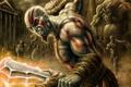 Картинка оружие, войны, арт, нападение, кратос, god of war, Kratos