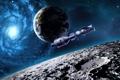 Картинка земля, луна, планеты, спутник