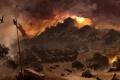 Картинка солнце, закат, война, вечер, солдаты, Assassin's Creed