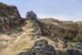 Картинка пейзаж, камни, скалы, картина, тропинка, Карлос де Хаэс, Пейзаж близ Монастыря