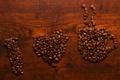 Картинка надпись, кофе, я люблю кофе, зерна
