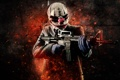 Картинка M4A1, Background, Weapon, Money, Mask, Payday: The Heist, Overkill Software