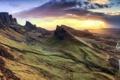 Картинка пейзаж, закат, горы, природа