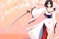 Картинка девушка, меч, катана, арт, кимоно, kara no kyoukai, ryougi shiki