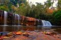 Картинка лес, деревья, камни, водопад, Cambodia, Banlung Waterfalls
