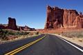 Картинка дорога, пустыня, Природа, каньоны
