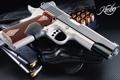 Картинка пистолет, патроны, кобура, обойма