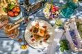 Картинка ягоды, завтрак, мед, honey, fresh, тосты, berries