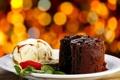 Картинка сладость, клубника, пирожное, мята, брауни