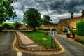 Картинка поля, Англия, дороги, дома, архитектура., boltton - abbey, velikobritaniya