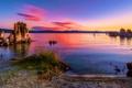 Картинка закат, Калифорния, река, США