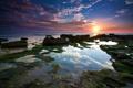 Картинка море, вода, закат, камни