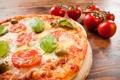 Картинка сыр, пицца, помидоры, оливки