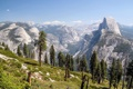 Картинка природа, Glacier Point, горы, деревья, the Yosemite Valley