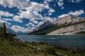 Картинка облака, трава, небо, фото, озеро, берег, деревья
