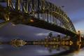 Картинка ночь, мост, город, огни, сидней, австралия, Sydney