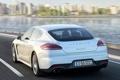 Картинка дорога, скорость, Porsche, порше, вид сзади, E-Hybrid, Panamera S