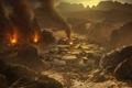 Картинка пожар, деревня, armageddon, армагедон, red faction