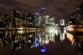 Картинка ночь, река, Лондон