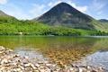 Картинка озеро, камни, Англия, гора, дно, холм, England