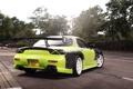 Картинка green, тюнинг, сзади, Mazda, зеленая, мазда, RX7