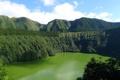 Картинка пейзаж, горы, природа, озеро, Португалия, Azores