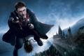 Картинка полёт, метла, палочка, Hogwarts, Daniel Radcliffe, Хогвартс, Гарри Поттер и Орден Феникса